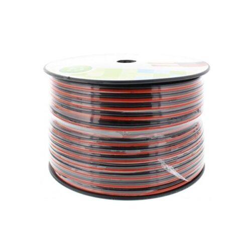 Καλώδιο Ηχείου Well 100m 2x4.00mm2 CCA Μαύρο/κόκκινο LSP-CCA4.00BR-100-WL