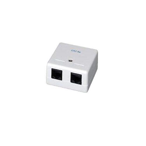Πρίζα Cat5e 2 Port Well LANBOX-SM-U5X2-WL