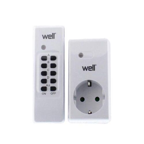 Τηλεχειριζόμενη Πρίζα Well 1 Control + 1 Πριζα  ELAD-SH/RC-WL