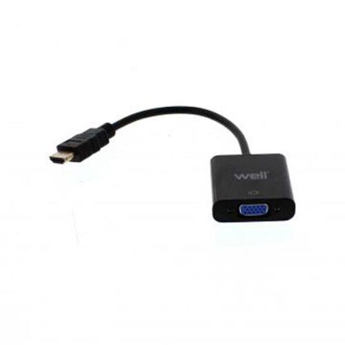 Adaptor HDMI αρσενικό σε VGA θηλυκό Well ADAPT-HDMIM/VGAF-0.2BK-WL