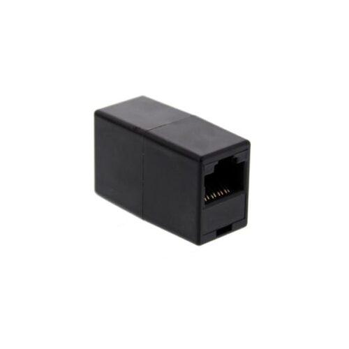 UTP Coupler Well (Μουφα) μαύρο TEL-0008-8/8BK-WL