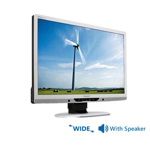 """Used Monitor 225B TFT/Philips/22""""/1680x1050/wide/Silver/With Speakers/D-SUB & DVI-D & USB HUB"""