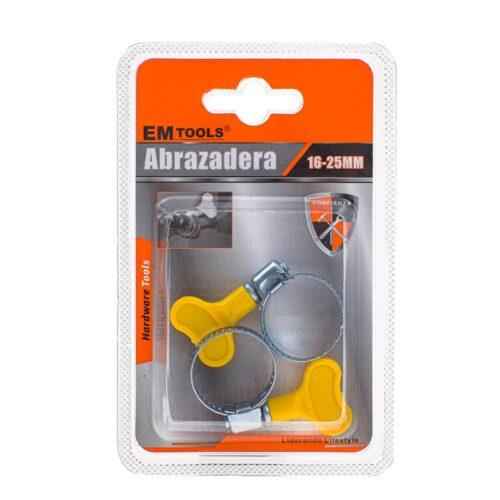 Σφιγκτήρας Σωλήνωσης Λάστιχου με ΠεταλούδαΧαρακτηριστικά:Υλικό: Πλαστικό + ΣίδηροςΔιάμετρος: 16-25mmDOA 14 Ημερών