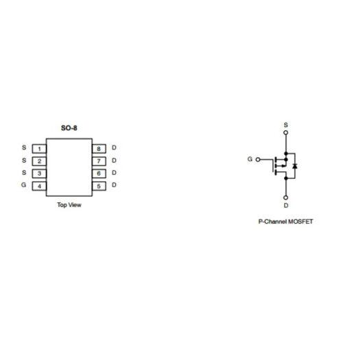 4835P-Channel 30-V (D-S) MOSFETVDS=-30VID=-9.6A @ VGS=-10VID=-7.5A @ VGS=-4.5V