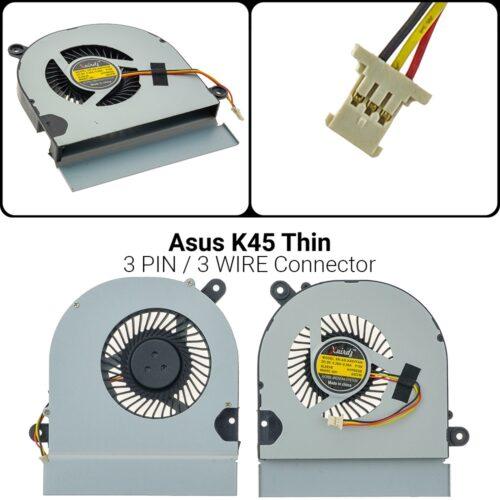 3 PINA45 A45vd A45V A85C A85 A85V K45VM K45VD CPU FAN MF75090V1-C160-G99