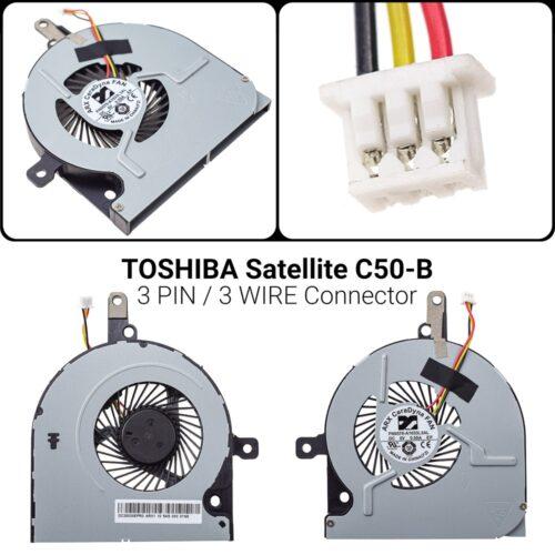 3 PIN3 WIREΑνεμιστήρας Toshiba Satellite C50-BC50-B C55-B C50-D C50-A C50D-B C55C50-B-14D C50-B-14E C50-B-154