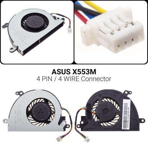 4 PIN4 WIREΑνεμιστήρας ASUS X553MX553 X553S X553M X553MA X453M X403M K553M F553M D553M X503M F503M