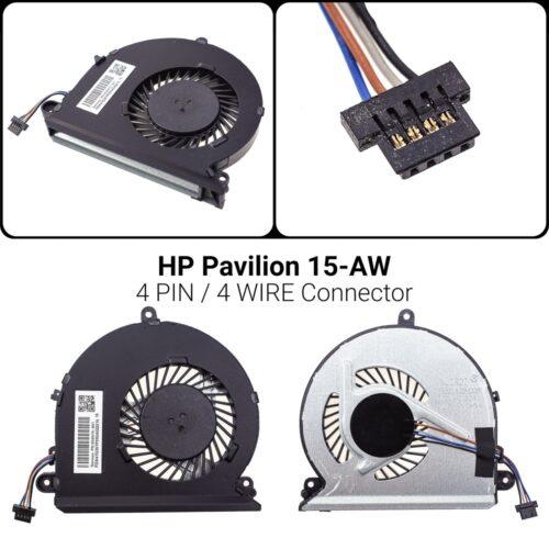 4 PIN4 WIREΑνεμιστήρας Hp Pavilion 15-AU 15-AW856359-001