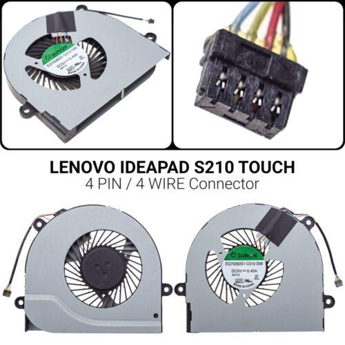 4 PIN4 WIREΑνεμιστήρας Lenovo Ideapad S210 S210T S215 S215T1104-00253