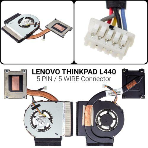 5 PIN5 WIREΑνεμιστήρας Lenovo Thinkpad L440 L440 L540P/N: 04X4117