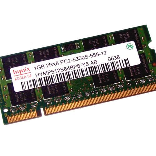 DDR2 SODIMM 1GB HYNIX HYMP512S64BP8-Y5 PC2-5300S 667MHZ