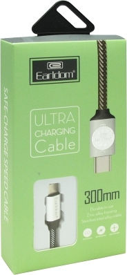 Data cable Earldom EC-013C, Type-C, 0.3m, Different colors – 14160