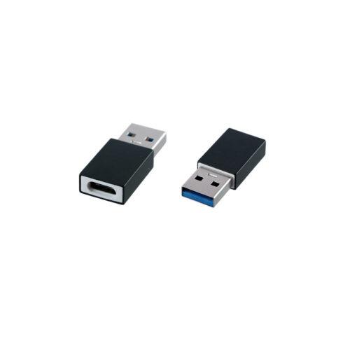 Μετατροπέας TYPE C FEMALE TO USB 2.0 MALE 2.4A BLACK NSP