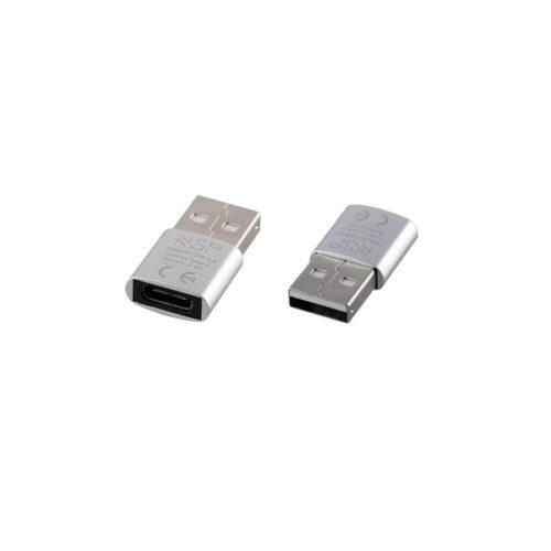 Μετατροπέας TYPE C FEMALE TO USB 2.0 MALE 2.4A WHITE NSP