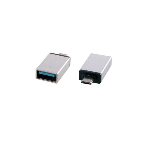 Μετατροπέας USB 3.0 OTG 2.4A FEMALE ΣΕ MICRO USB MALE SILVER NSP