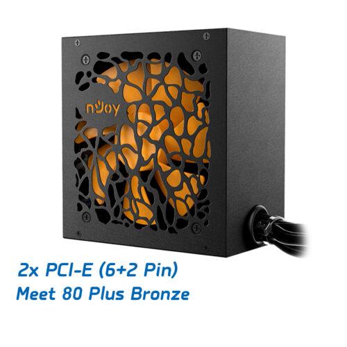 Τροφοδοτικό Astro 550W ATX PFC Active 80Plus Bronze 12cm Orange Fan