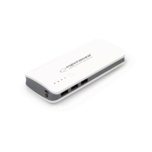 Φορητός Φορτιστής 8000mA Power Bank άσπρο/γκρι