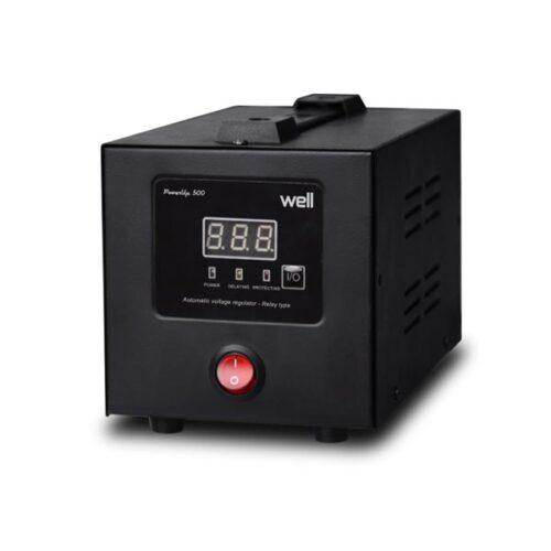 AVR-500VA Well Ψηφιακό PowerUP w/LCD Display Black AVR-REL-POWERUP500-WL