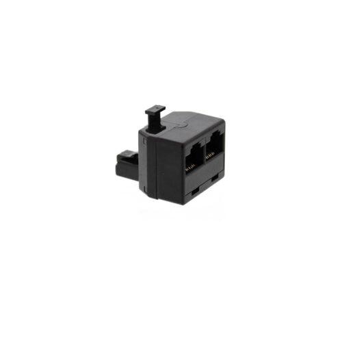 Adaptor Rj11-8P8C 1αρσενικό/2θηλυκά  Well TEL-0007-8/8BK-WL