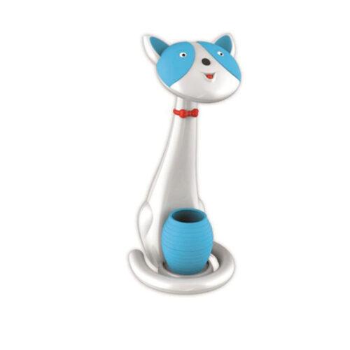 COM Φωτιστικό Γραφείου Γάτα Λευκή Μπλε