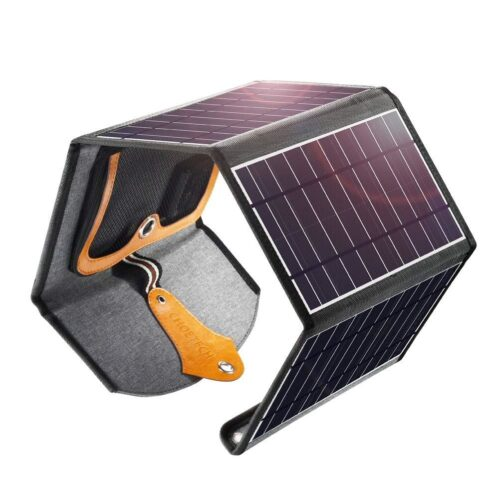 Choetech Solar Charger with 4 panels - 22W - Water resistant