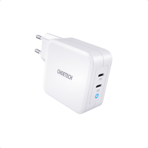 Dual USB-C GaN power adapter - Power Delivery 100W
