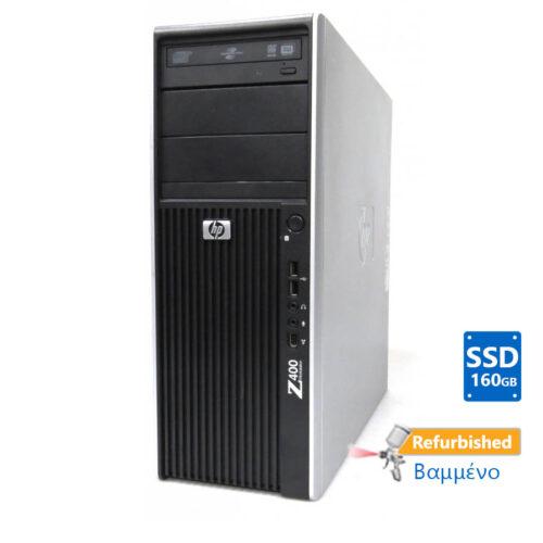 HP Z400 Tower Xeon W3503/8GB DDR3/Κάρτα γραφικών/160GB SSD/DVD/7P Grade A+ Workstation Ref.PC