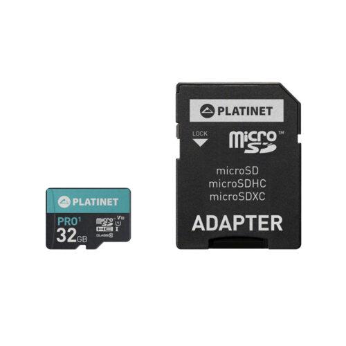PLATINET microSDHC  SECURE DIGITAL + ADAPTER SD 32GB class10 U1 70MB/s
