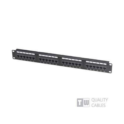 Patch Panel 24 Port Cat5e για RACK 19 PNL-PATCH-24P/C5E/UTP-WL