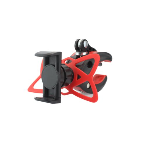 Phone holder for bicycle - up to 80mm - red