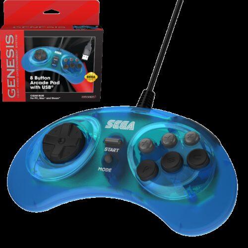 SEGA Genesis 8-button Arcade pad controller - USB