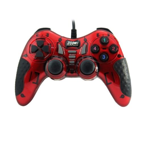 USB game controller with wire - red