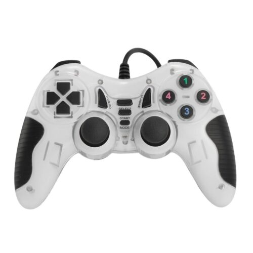 USB game controller with wire - white