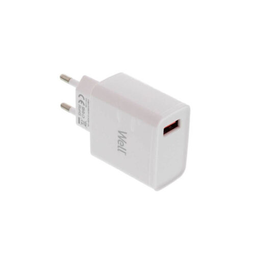 Universal USB Fas Travel Wall Charger QC 3.0 18W 3000mA Λευκό Well PSUP-USB-WQ11801WE-WL