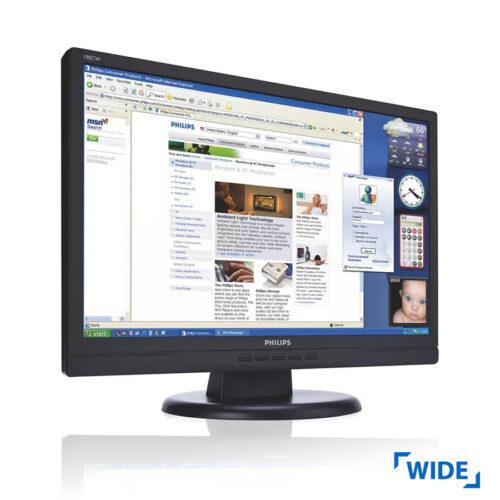 "Used Monitor 190CW TFT/Philips/19""/1440x900/wide/Black/Grade B/VGA & DVI-D"