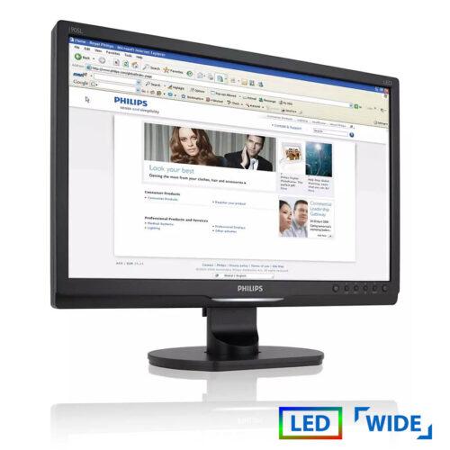 "Used Monitor 190sl LED/Philips/19""/1440x900/wide/Black/VGA & DVI-D"