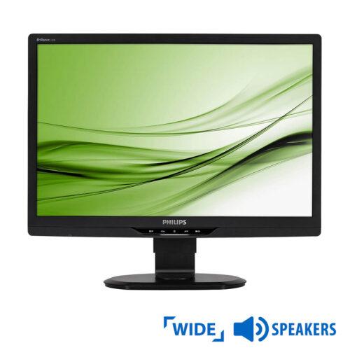 """Used Monitor 220B TFT/Philips/22""""/1680x1050/wide/Black/w/Speakers/GradeB/D-SUB & DVI-D & USB Hub"""