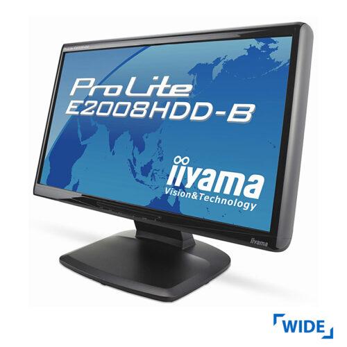 Used Monitor E2008HDD TFT/iiyama/20/1600x900/Wide/Black/VGA & DVI-D