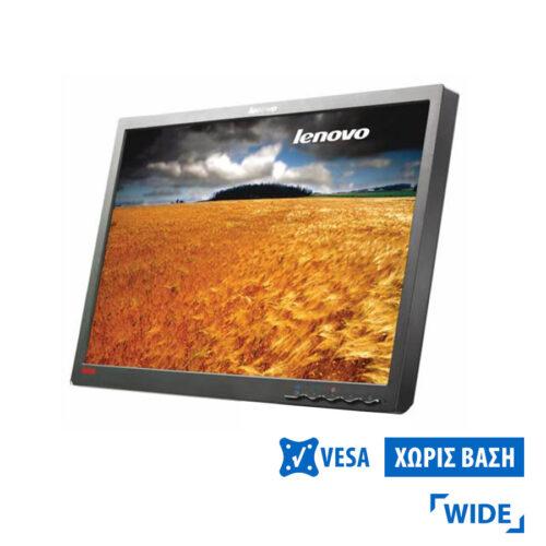 """Used Monitor L2240p TFT/Lenovo /22""""/1680x1050/wide/Silver/Black/No Stand/Grade B/D-SUB & DVI-D"""