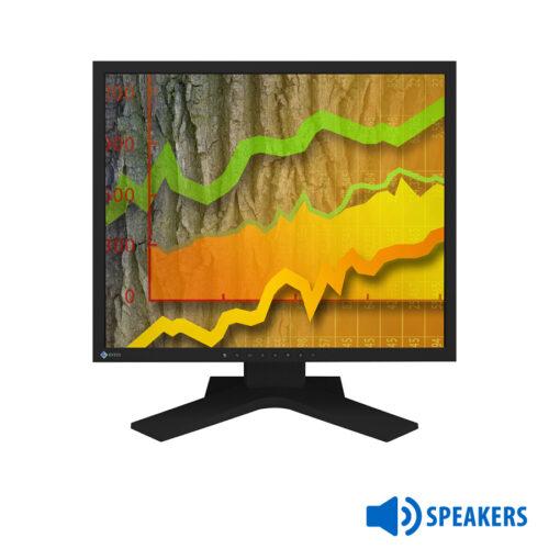 """Used Monitor S1902 TFT/Eizo/19""""/1280x1024/Black/Grade B/wSpeakers/D-SUB & DVI-D"""