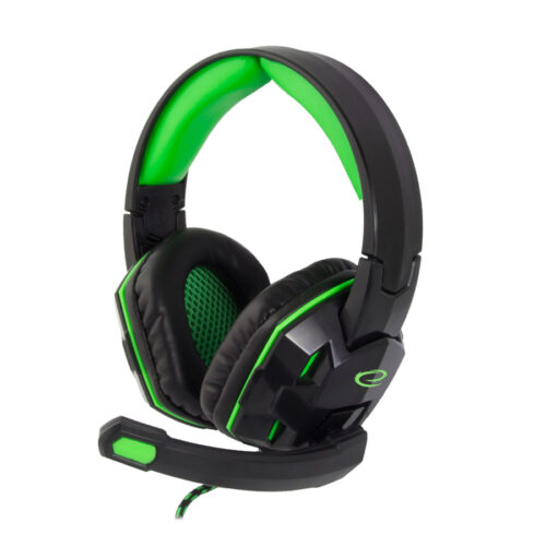 Venom Ακουστικό με μικρόφωνο gaming πράσινο EGH380