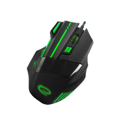 Wolf Gaming mouse ενσύρματο μαύρο/πράσινο 7 Keys 2400dpi EGM201