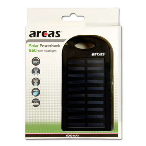 Arcas Solar Powerbank 6000mAh S60 Blister