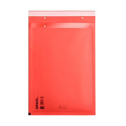 Bubble envelopes red Size D 200x275mm (100 pcs.)