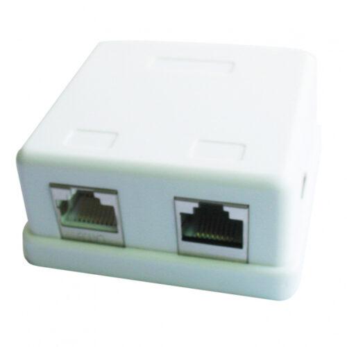 CableXpert 2-Port LAN-Anschluss Dose auf Putz NCAC-HS-SMB2