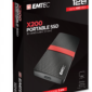 EMTEC SSD 128GB 3.1 Gen2 X200 SSD Portable Retail ECSSD128GX200