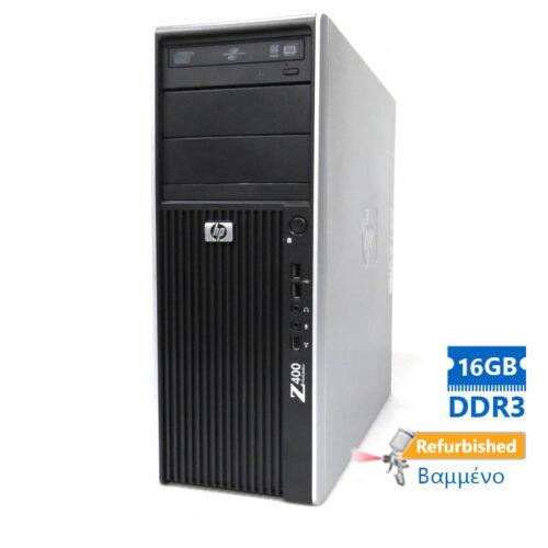HP Z400 Tower Xeon QC-W3550 (4-Cores)/16GB DDR3/1TB/Κάρτα Γραφικών 4GB/DVD/7P Grade A+ Workstation R