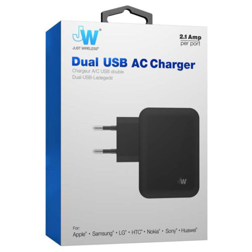 Just Wireless Charger dual Black 4.2A JW