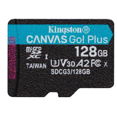 Kingston Canvas Go Plus MicroSDXC 128GB Single Pack SDCG3