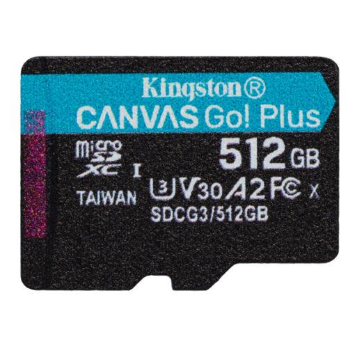 Kingston Canvas Go Plus MicroSDXC 512GB Single Pack SDCG3